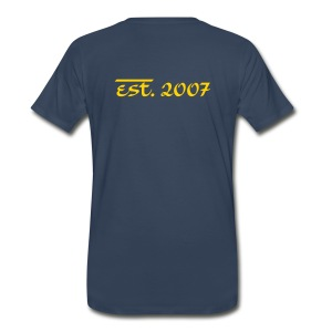 T-Shirt (Est. 2007...) [Navy/Gold] - Men's Premium T-Shirt