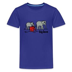 Big Love elephants family - Kids' Premium T-Shirt