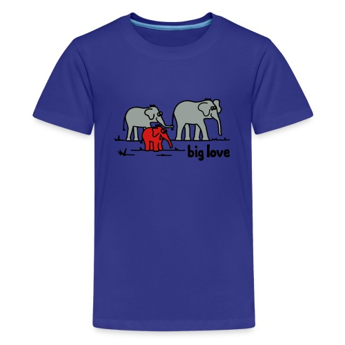 Big Love elephants family - Kids' Premium T-Shirt