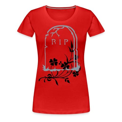 tombstone & flowers - Women's Premium T-Shirt