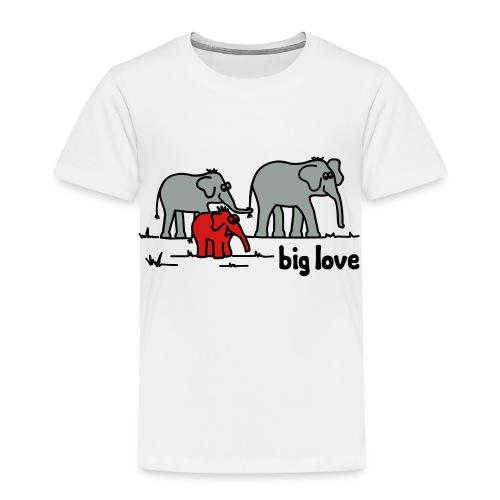 Big Love elephants family - Toddler Premium T-Shirt