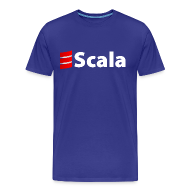 T-Shirts ~ Men's Premium T-Shirt ~ Men's Color T-Shirt with White Scala Logo