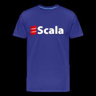 T-Shirts ~ Men's Premium T-Shirt ~ Men's Color T-Shirt with White Scala Logo