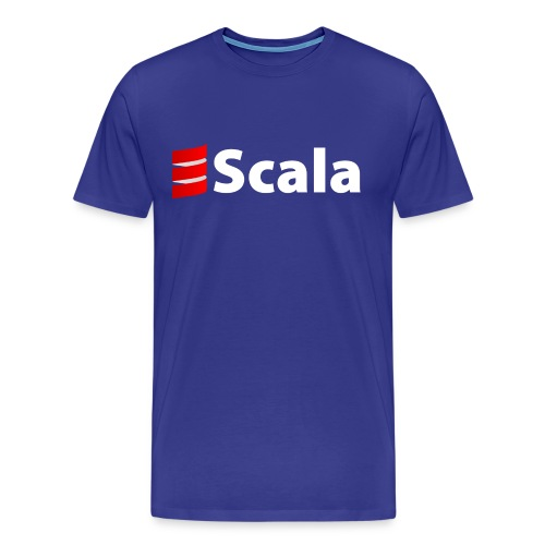 Men's Color T-Shirt with White Scala Logo - Men's Premium T-Shirt