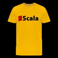 T-Shirts ~ Men's Premium T-Shirt ~ Men's Color T-Shirt with Black Scala Logo