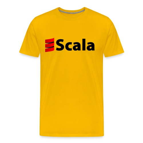 Men's Color T-Shirt with Black Scala Logo - Men's Premium T-Shirt