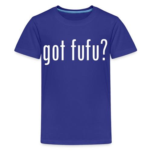 got fufu - Boy's Tee - Turquoise / white - Kids' Premium T-Shirt