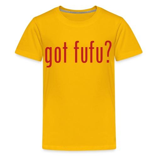 got fufu - Boy's Tee - Yellow / Red - Kids' Premium T-Shirt