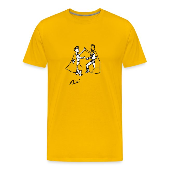 Yellow Two Supermen on Hollywood Blvd T-Shirts