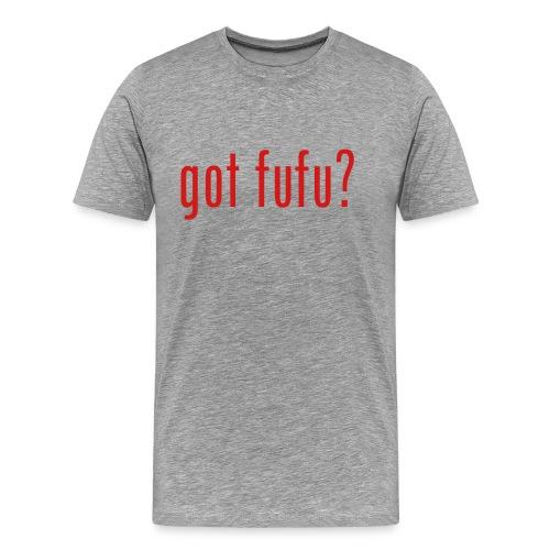 got fufu Men's 3XL - Grey / Red - Men's Premium T-Shirt