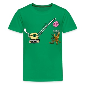 Building ice cream coke- kids shirt - Kids' Premium T-Shirt