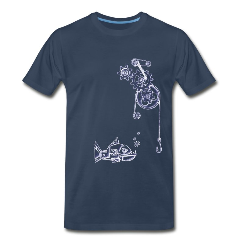 Fishing Gears - Navy - Mens - Men's Premium T-Shirt