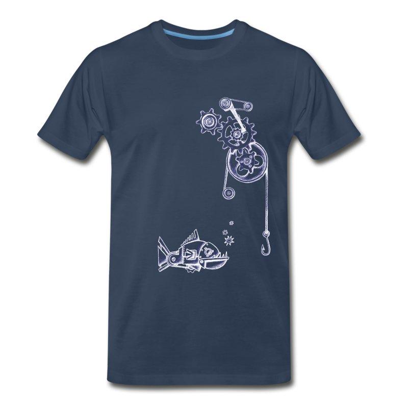 Fishing Gears - Navy - Mens - Men's Premium T-Shirt