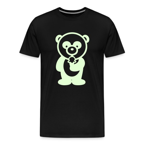Glow in the dark - Ice Cream Panda - Men's Premium T-Shirt