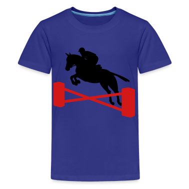 Royal blue showjumping Kids' Shirts