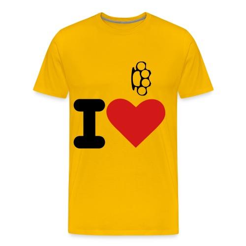 I Love Brass Nuckles - Men's Premium T-Shirt