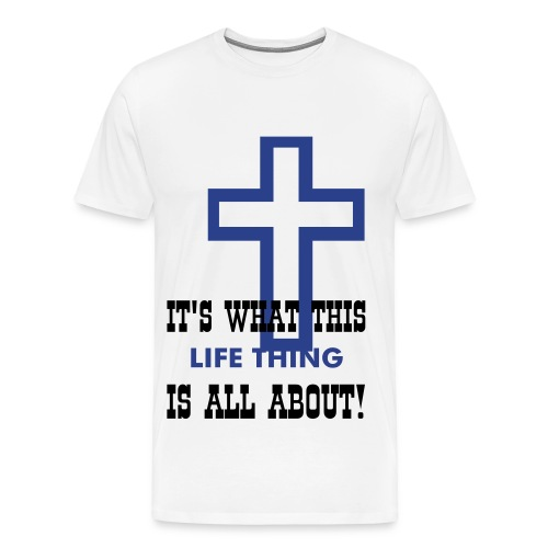All about the cross Tee - Men's Premium T-Shirt