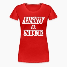 Red Naughty And Nice With Cut Outs, 1 Color Plus Size