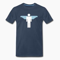 Navy simple man with wings T-Shirts