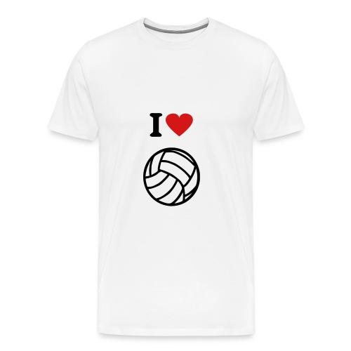 I Love Volleybal - Men's Premium T-Shirt