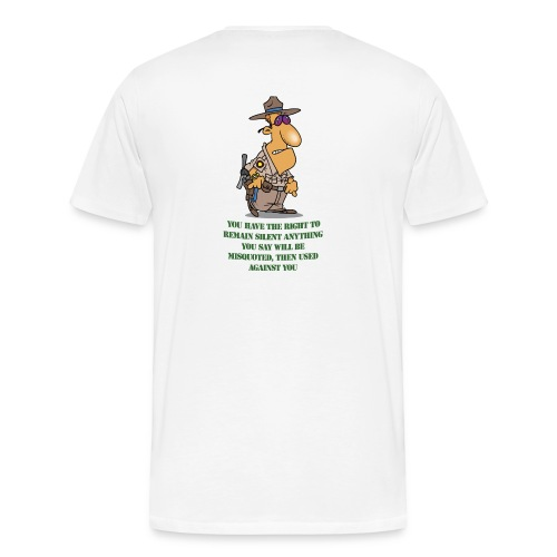 Right to remain silent - Men's Premium T-Shirt