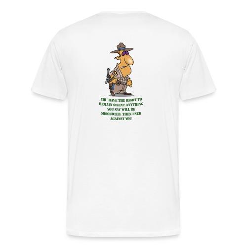Right to remain silent - Men's Premium T-Shirt
