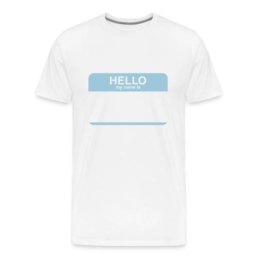 Hello, my name is Tee - Men's Premium T-Shirt