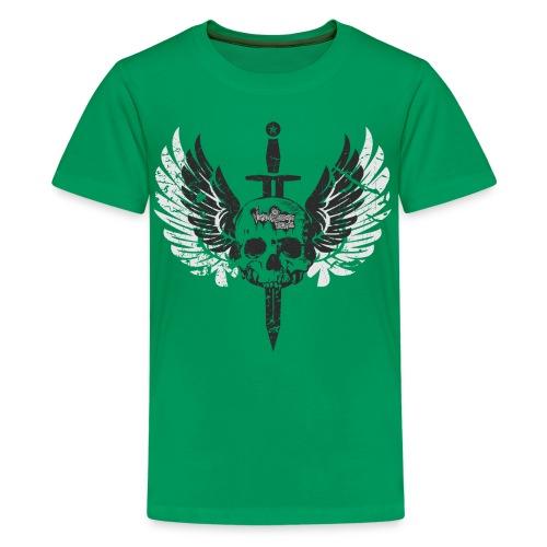 Vintage Skull and Graffiti Logo - Kids' Premium T-Shirt