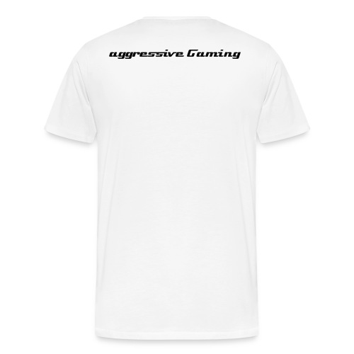 Aggressive Gaming T - White - Men's Premium T-Shirt