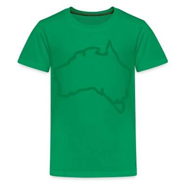 Kelly green rough map of australia Kids' Shirts