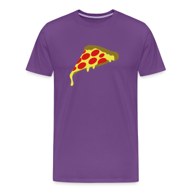 Purple pepperoni pizza slice T-Shirts