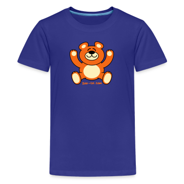 Turquoise Christmas Teddy Bear Kids' Shirts