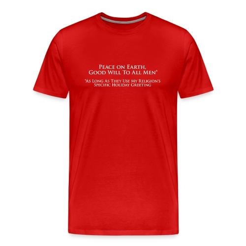 Peace on Earth - Men's Premium T-Shirt