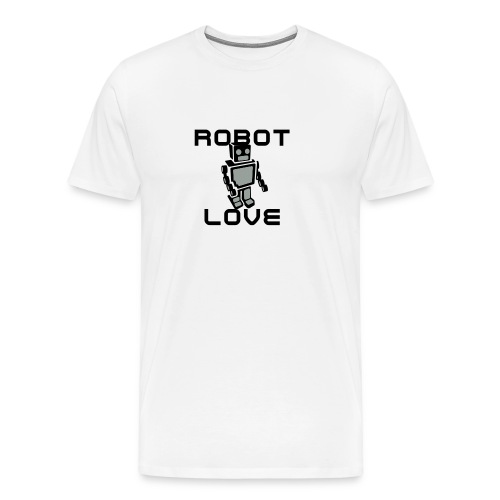 ROBOT LOVE GRAY TSHIRT MENS - Men's Premium T-Shirt