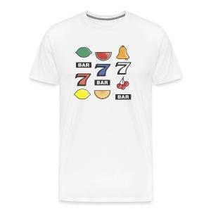 Slot Machine Bars - Men's Premium T-Shirt