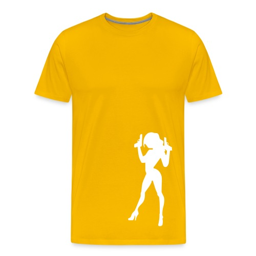 Caught- yellow - Men's Premium T-Shirt