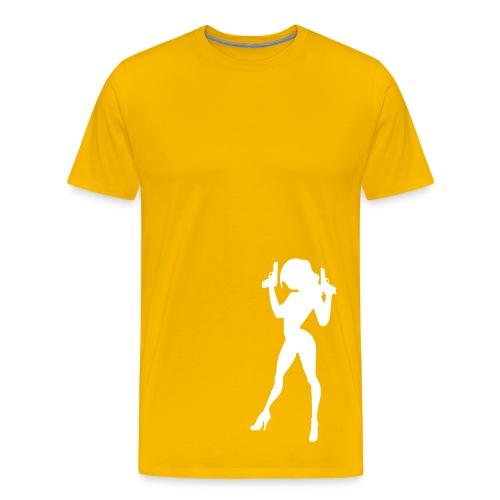 Caught- yellow - Men's Premium T-Shirt