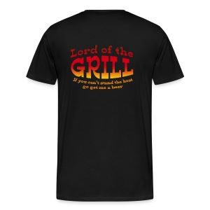 Lord of the grill Text shirt - Men's Premium T-Shirt