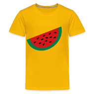 Kids' Shirts ~ Kids' Premium T-Shirt ~ KKT 'Large Watermelon Slice' Children's Tee, Yellow