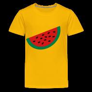Kids' Shirts ~ Kids' Premium T-Shirt ~ KKT 'Large Watermelon Slice' Children's Tee, Yellow