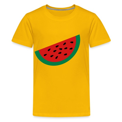 KKT 'Large Watermelon Slice' Children's Tee, Yellow - Kids' Premium T-Shirt