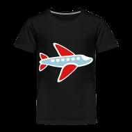 Baby & Toddler Shirts ~ Toddler Premium T-Shirt ~ KKT 'Airplane, 3 Color' Toddler Tee, Black