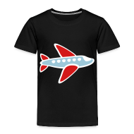 Baby & Toddler Shirts ~ Toddler Premium T-Shirt ~ KKT 'Airplane, 3 Color' Toddler Tee, Black