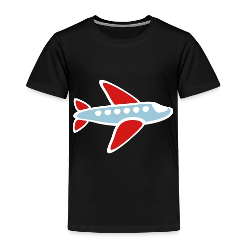 KKT 'Airplane, 3 Color' Toddler Tee, Black - Toddler Premium T-Shirt