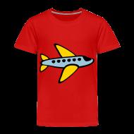 Baby & Toddler Shirts ~ Toddler Premium T-Shirt ~ KKT 'Airplane, 3 Color' Toddler Tee, Red