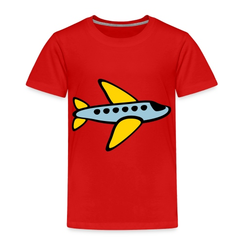 KKT 'Airplane, 3 Color' Toddler Tee, Red - Toddler Premium T-Shirt