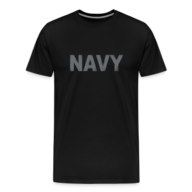 US Navy distressed logo Tee