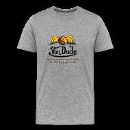 T-Shirts ~ Men's Premium T-Shirt ~ Von Dude Flying Yin Yang Bowling Ball - Men's Heavyweight T-Shirt
