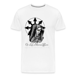 Our Lady of Perpetual Confusion. White. - Men's Premium T-Shirt