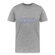 T-Shirts ~ Men's Premium T-Shirt ~ USAF distressed logo Heavyweight Tee